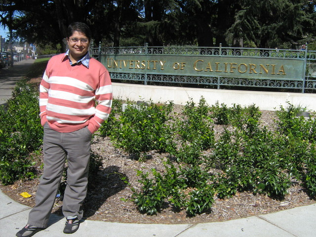 Ajitabh Standing at University of California, Berkeley