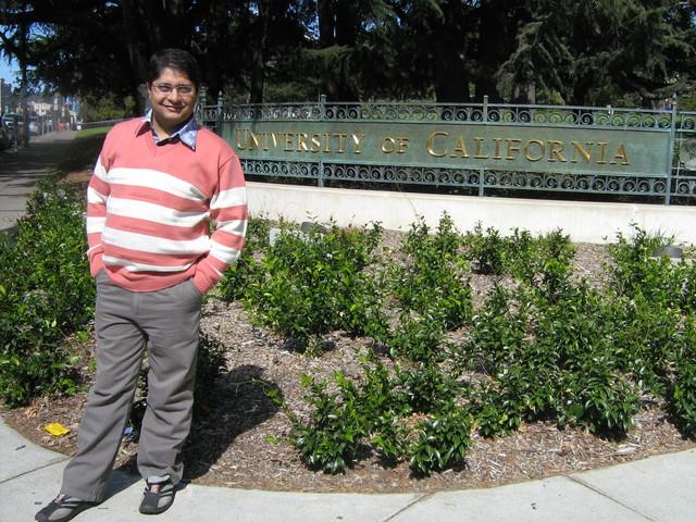 Ajitabh Standing at University of California, Berkeley