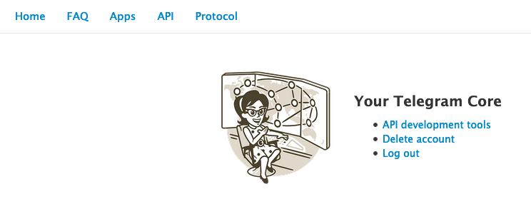 Screenshot of Telegram Core Developer Page